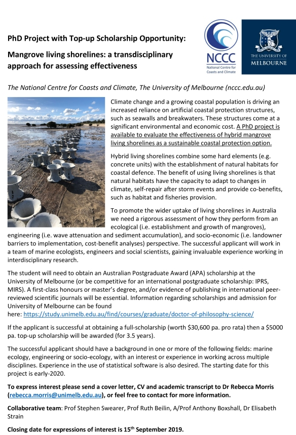 Living shorelines_PhD opportunity